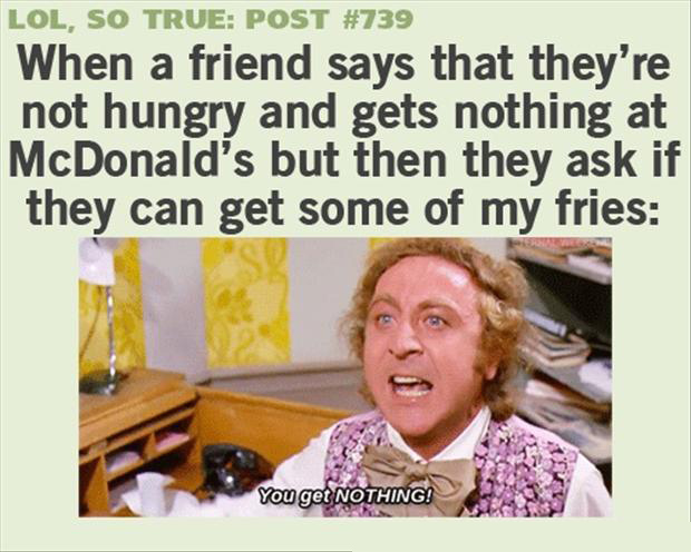 a funny quotes, eating with friends
