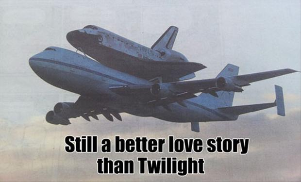 a plane, still a better love story than twilight