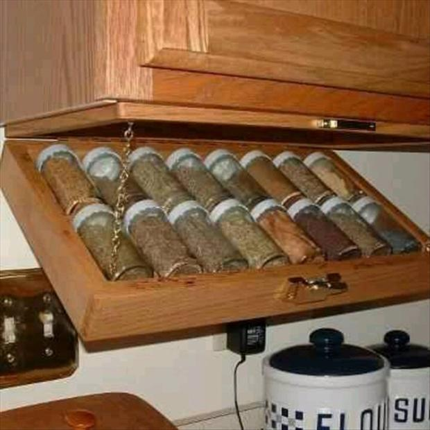 a spice rack, smart ideas