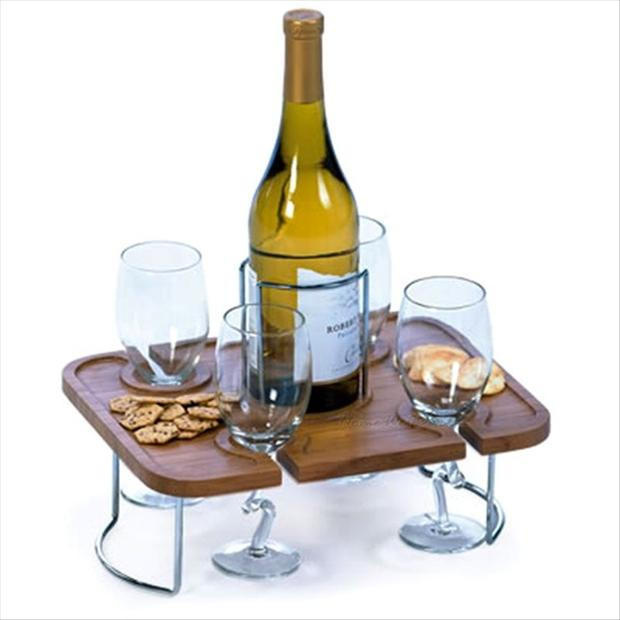 a wine glass holder, smart ideas