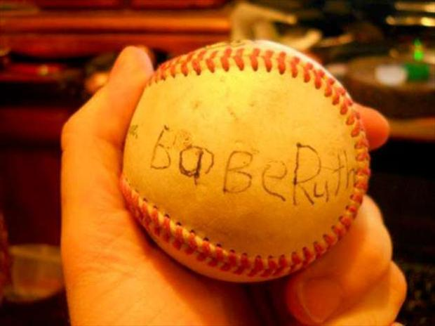 babe ruth autograph, seems legit