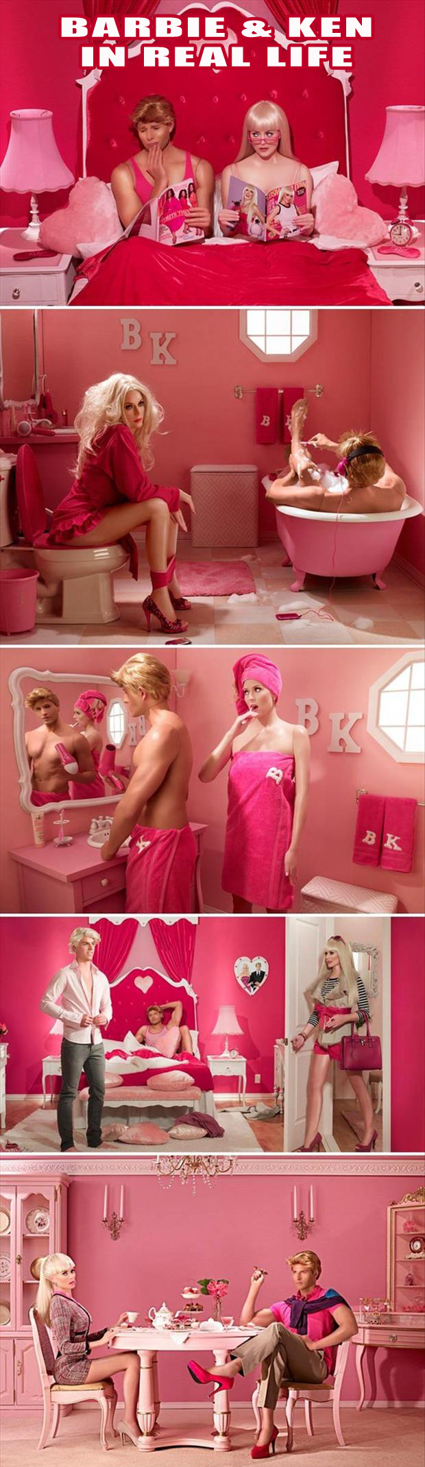 barbie and ken in real life, funny pictures
