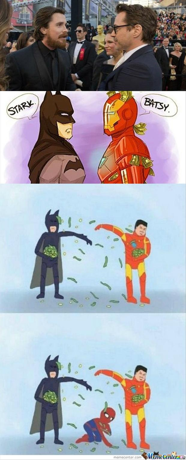 batman, iron man, funny pictures