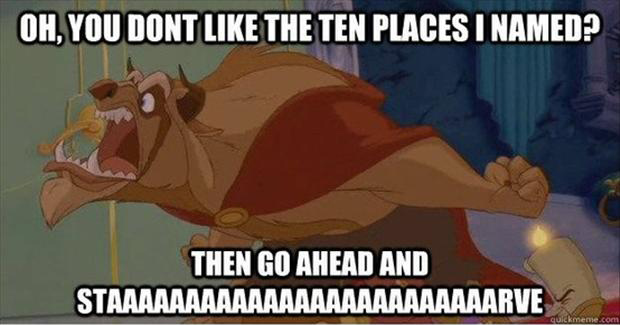 beauty and the beast, funny quotes