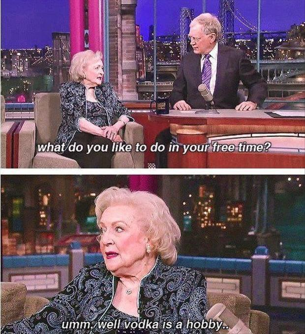 betty white quotes, vodka