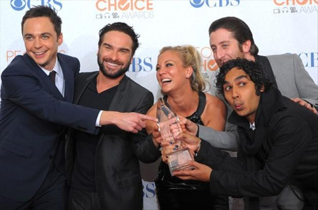 big bang theory cast members win an award