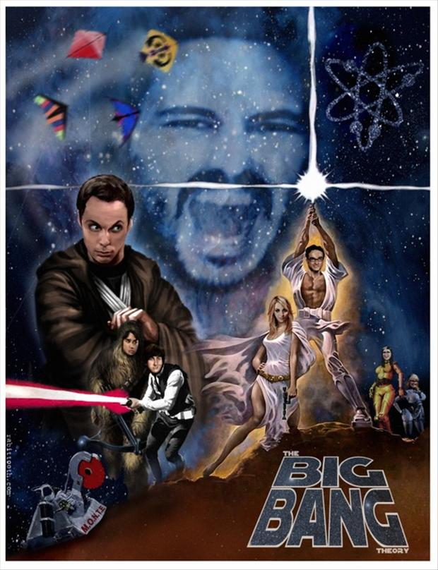 big bang theory, star wars poster