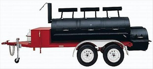 big bbq on trailer