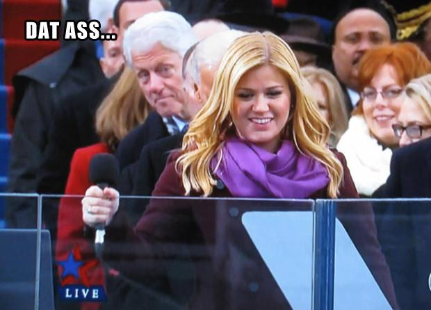 bill clinton, kelly clarkson, dat ass