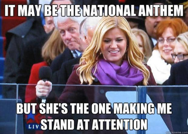 bill clinton, kelly clarkson, funny pictures, stand at attention