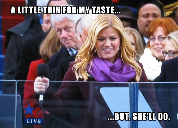 bill clinton, kelly clarkson, funny thoughts