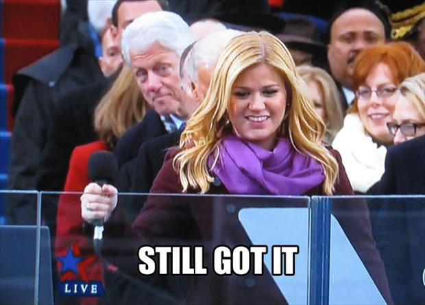 bill clinton, kelly clarkson, still got it