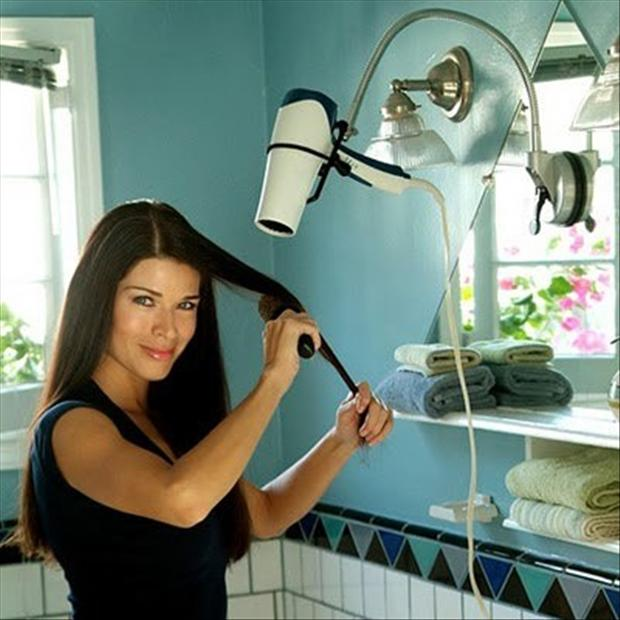 blow dryer holder, smart ideas