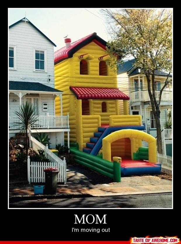 bounce castles, funny demotivational posters