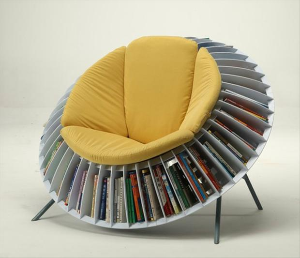 chair and book shelf