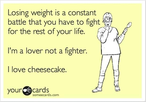 cheesecake, funny quotes