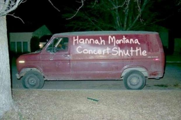 concert shuttle, seems legit