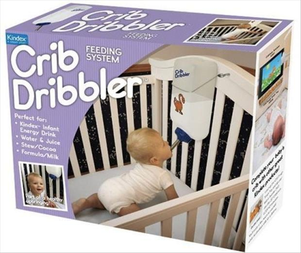 crib dribbler, feed your baby in bed