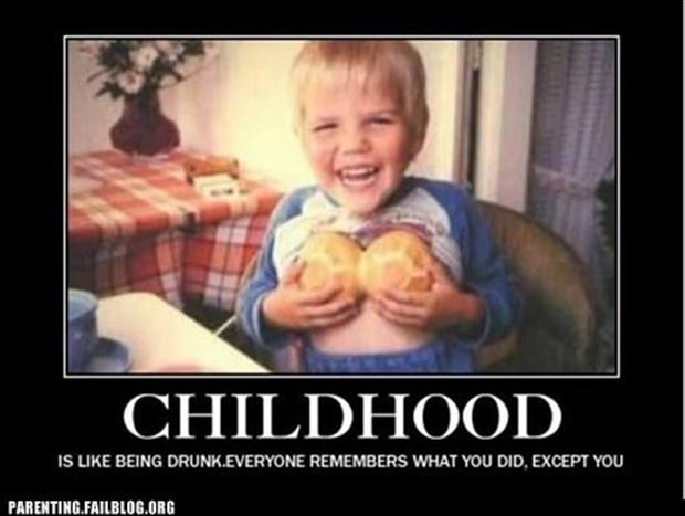 demotivational posters, childhood
