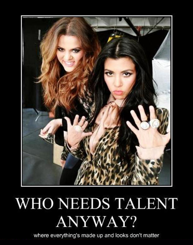 demotivational posters, kardashian funny pictures
