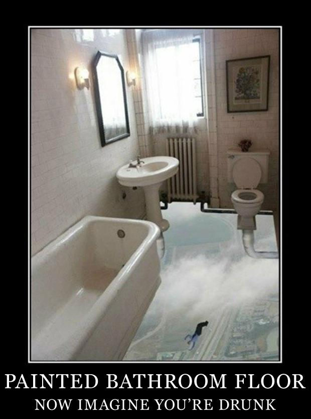 demotivational-posters-painted-bathroom-floor