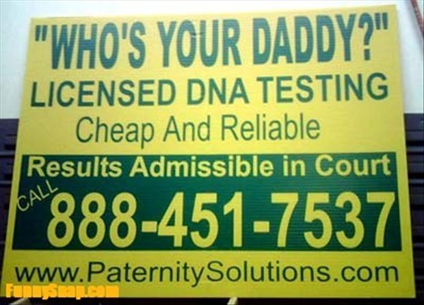 dna testing, whos your daddy