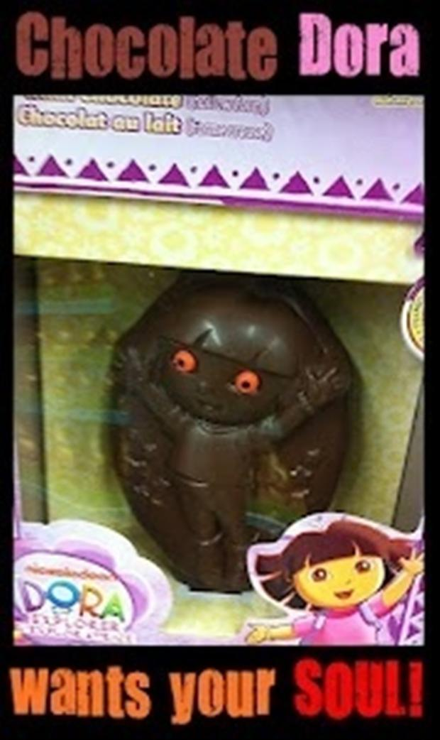 dora the explorer, chocolate treats