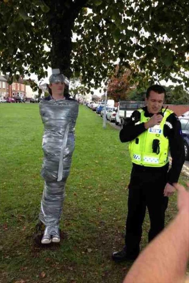 duct taped to a tree, funny pictures
