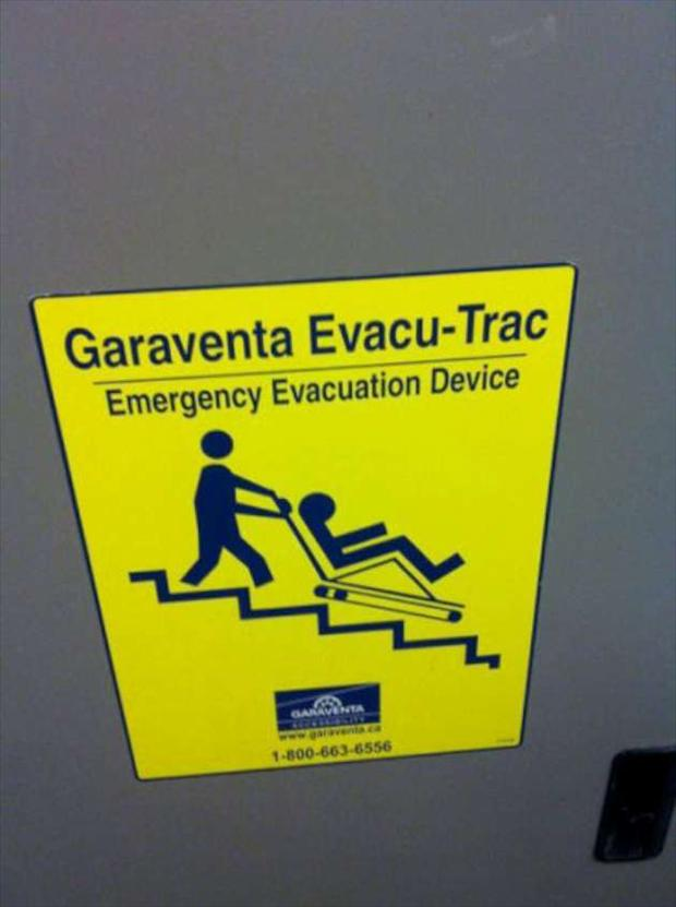 evacuation plan, seems legit