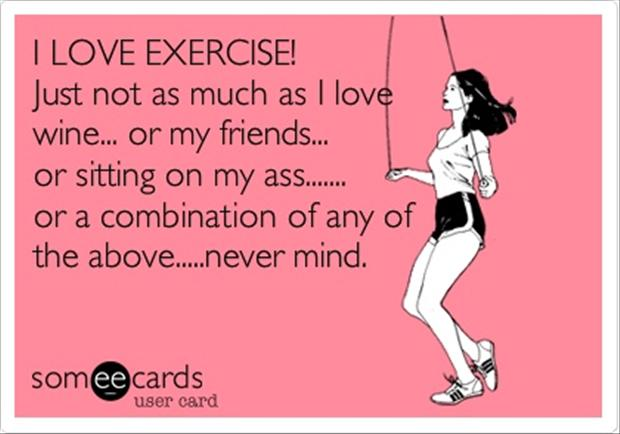 exercise, funny quotes