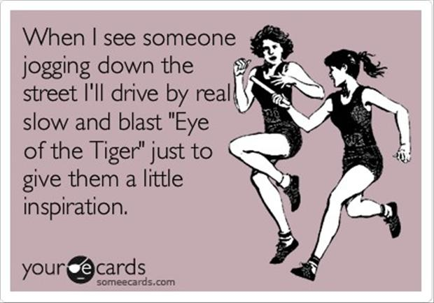 eye of the tiger, funny running music