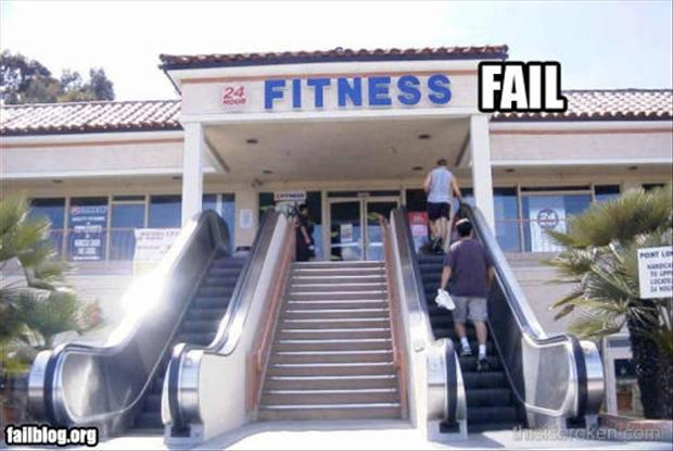 fitness fail, using the stairs