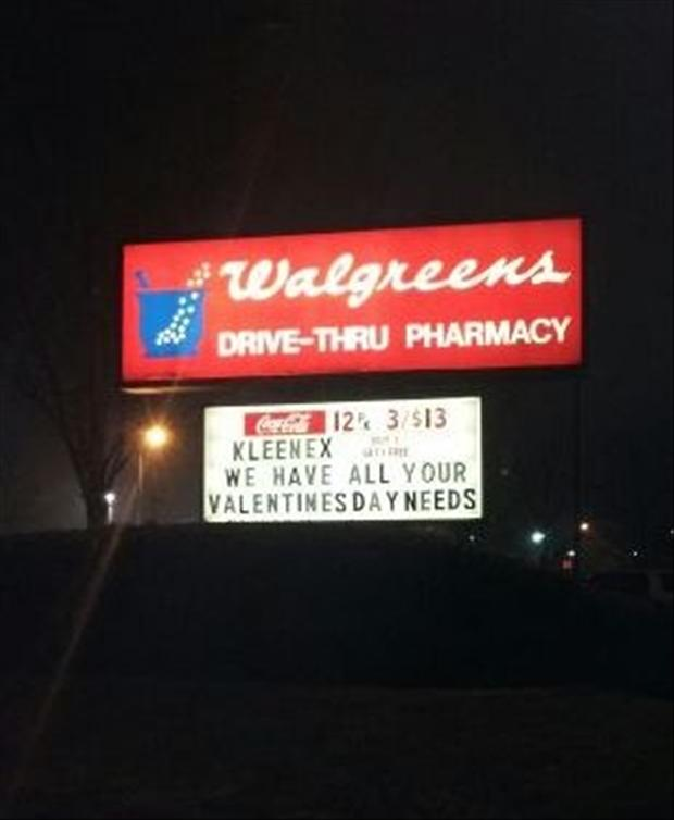 forever alone, tissue, funny valentines day signs