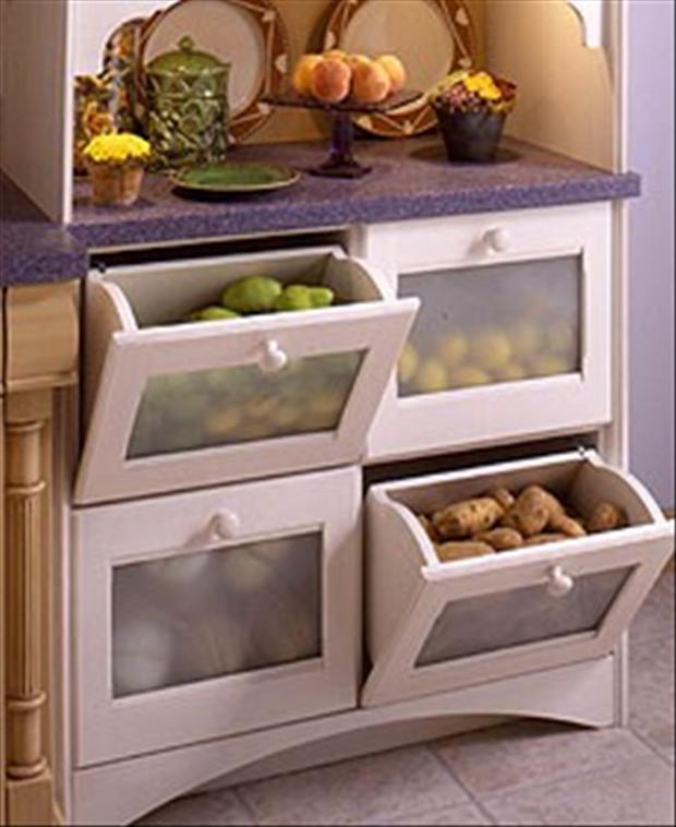 fruit and vegetable drawers in the kitchen dump a day