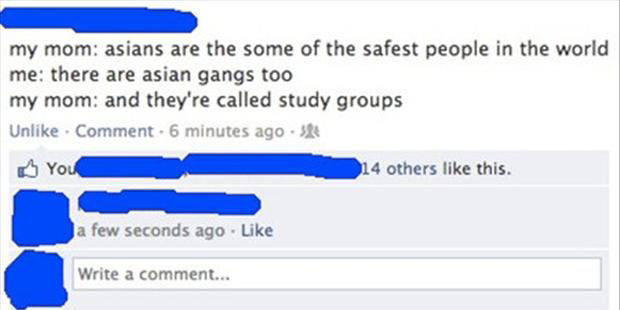 funny asians, facebook updates