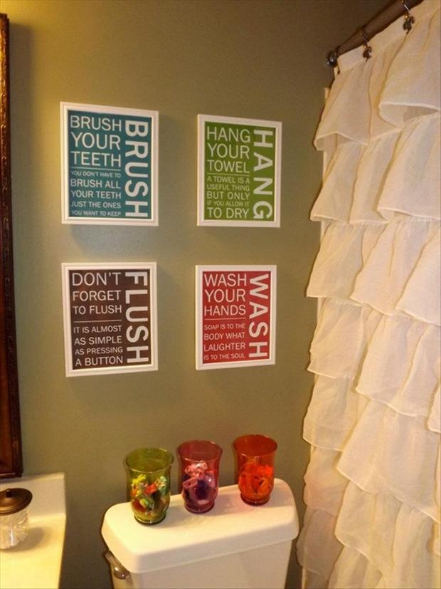 funny bathroom signs, crafts