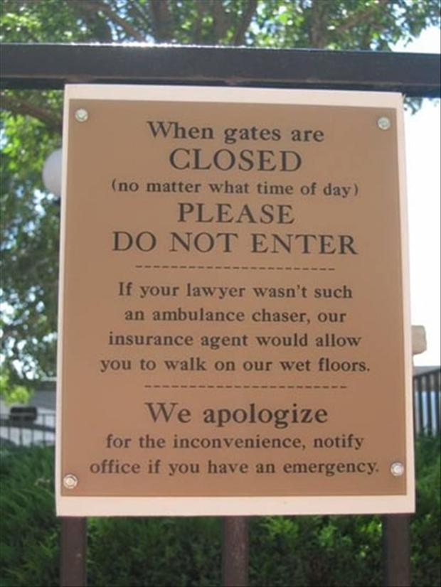funny business signs, do not enter