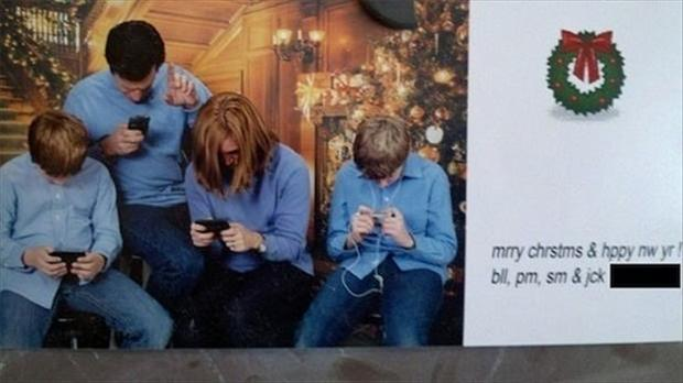 funny christmas family cards