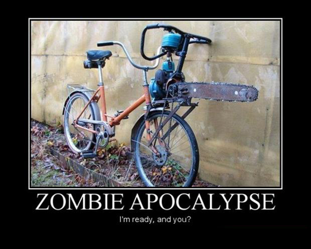funny demotivational posters, zombie apocalypse