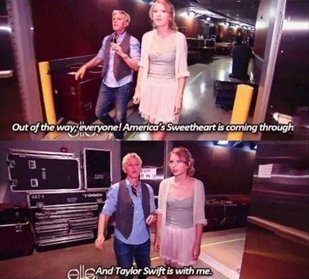 funny ellen degeneres and taylor swift
