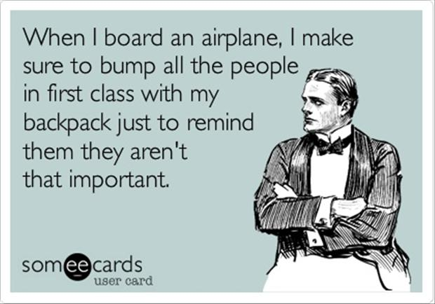 funny first class airplane passengers, funny quotes