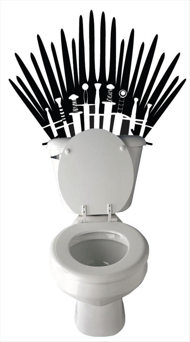 funny game of thrones, toilet