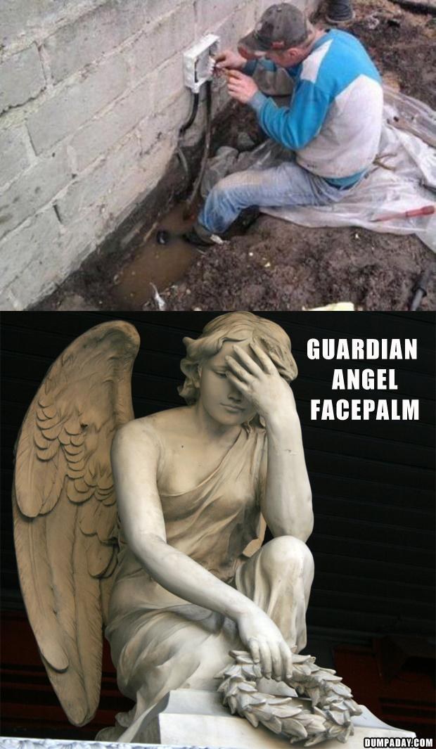 funny guardian angel facepalm