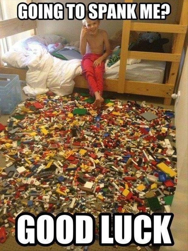 funny kids and legos, messy room