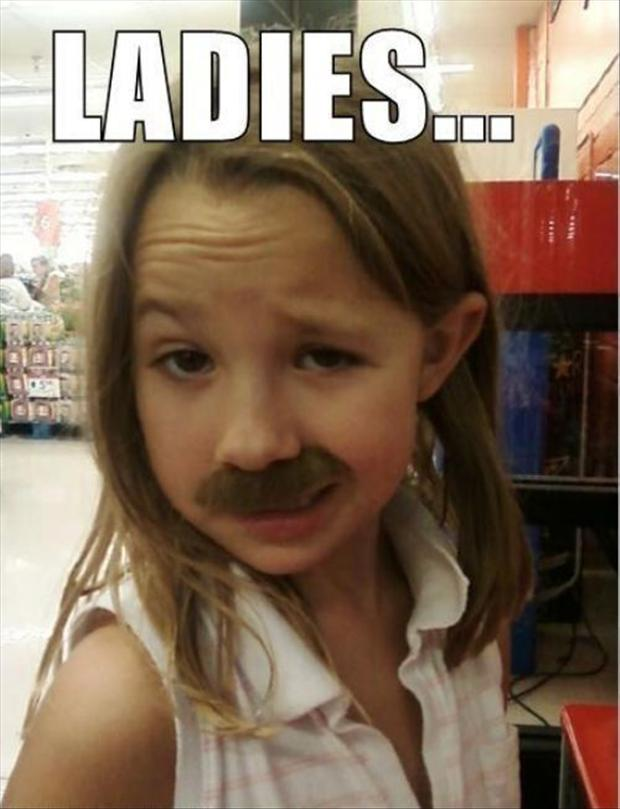 funny kids, mustaches