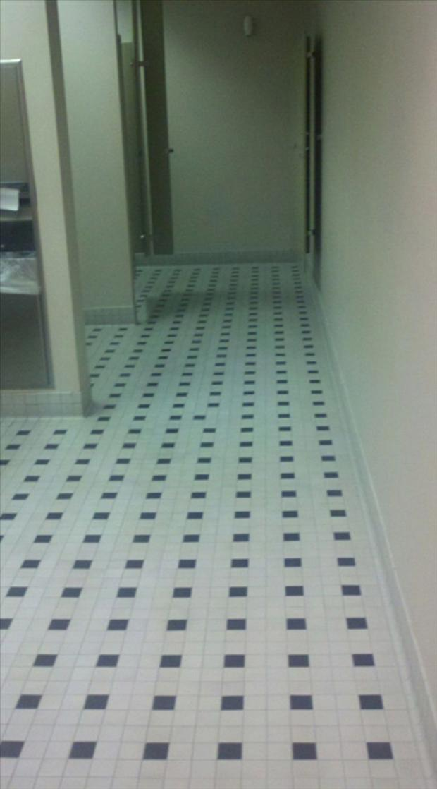 funny ocd pictures, bathroom floor tile