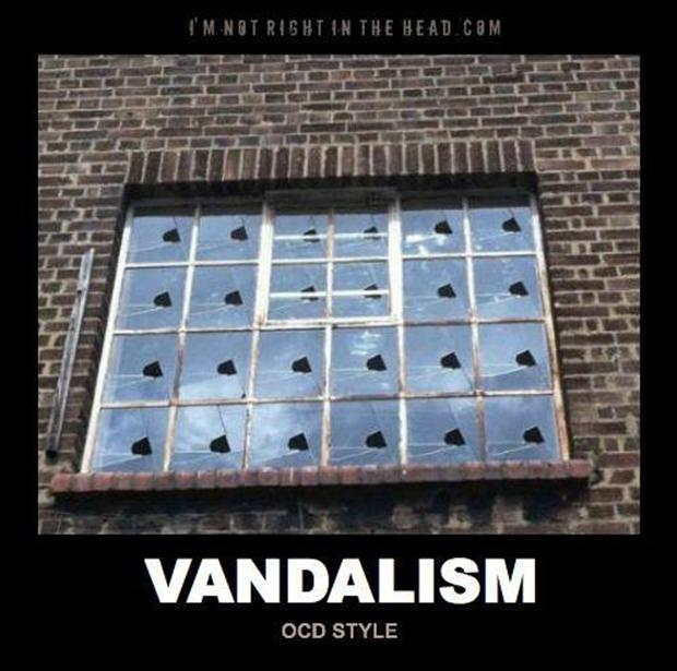 funny ocd pictures, broken windows