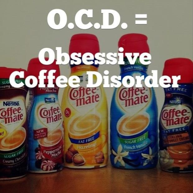 funny ocd pictures, coffee