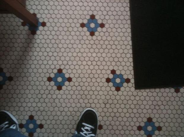 funny ocd pictures, tile out of place