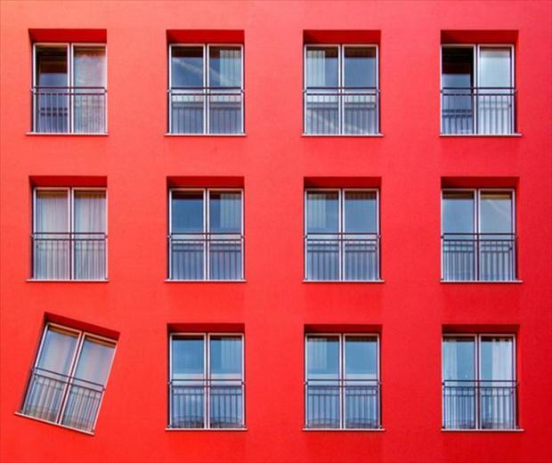 funny ocd pictures, window slanted